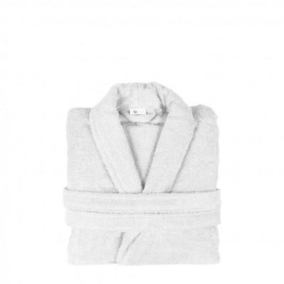Μπουρνούζι με γιακά, Large, Λευκό, Σειρά Comfort, 420gr/m², Πενιέ,  FENNEL BRCC-L-WH