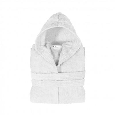 Μπουρνούζι με κουκούλα, Small, Λευκό, Σειρά Comfort, 420gr/m², Πενιέ,  FENNEL 26129