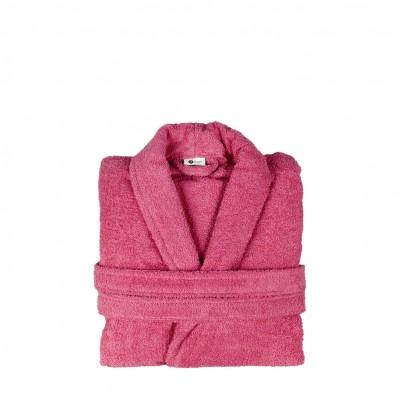 Μπουρνούζι με γιακά, Medium, Φούξια, Σειρά Comfort, 420gr/m², Πενιέ,  FENNEL 26106