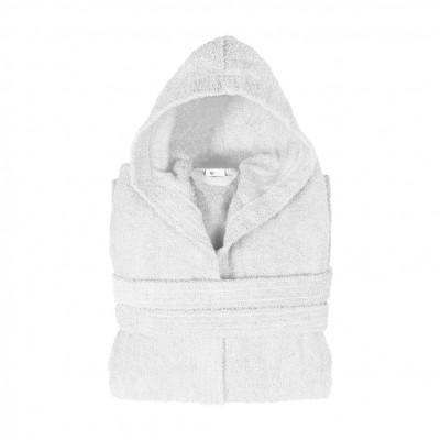 Μπουρνούζι με κουκούλα, Medium, Λευκό, Σειρά Comfort, 420gr/m², Πενιέ,  FENNEL 26124