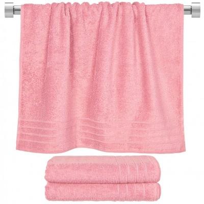 Πετσέτα μπάνιου ροζ 70x140 cm, Σειρά Comfort, 500gr/m², Πενιέ,  FENNEL 26017