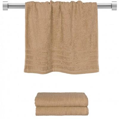 Πετσέτα προσώπου μπεζ 50x90 cm, Σειρά Comfort, 500gr/m², Πενιέ,  FENNEL 26010
