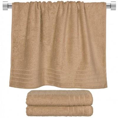 Πετσέτα μπάνιου μπεζ 70x140 cm, Σειρά Comfort, 500gr/m², Πενιέ,  FENNEL 26022