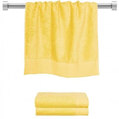 Πετσέτα προσώπου κίτρινη 50x100 cm, Σειρά Premium , 600gr/m², Πενιέ,  FENNEL 26049