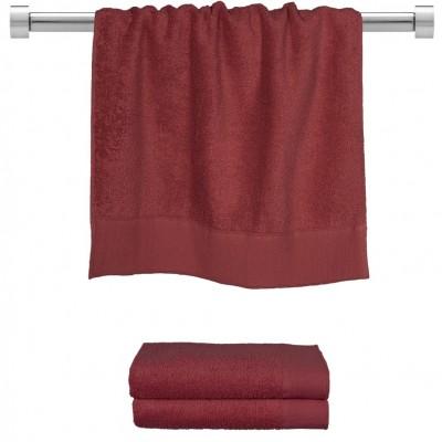 Πετσέτα προσώπου μπορντώ 50x100 cm, Σειρά Premium , 600gr/m², Πενιέ,  FENNEL 26048