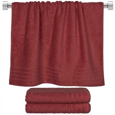 Πετσέτα μπάνιου μπορντώ 70x140 cm, Σειρά Comfort, 500gr/m², Πενιέ,  FENNEL 26024