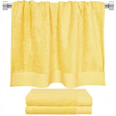 Πετσέτα μπάνιου κίτρινη 80x150 cm, Σειρά Premium , 600gr/m², Πενιέ,  FENNEL 26061