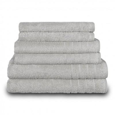 Πετσέτα προσώπου γκρι 50x90 cm, Σειρά Comfort, 500gr/m², Πενιέ,  FENNEL 26007