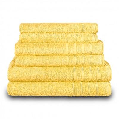 Πετσέτα προσώπου κίτρινη 50x90 cm, Σειρά Comfort, 500gr/m², Πενιέ,  FENNEL 26013