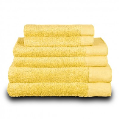 Πετσέτα προσώπου κίτρινη 50x100 cm, Σειρά Premium , 600gr/m², Πενιέ,  FENNEL TWPR-50100-YE