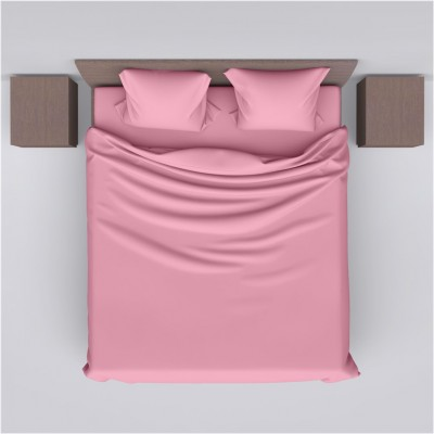 Σεντόνι διπλό 225x260cm, 100% βαμβακερό, 144 κλωστές, ροζ FENNEL 26309