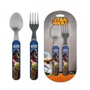 Σετ Φαγητού (Κουτάλι, πιρούνι) Star Wars Disney