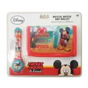 Ψηφιακό ρολόι & Πορτοφόλι Mickey Mouse Disney
