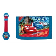 Ψηφιακό ρολόι & Πορτοφόλι Cars Disney