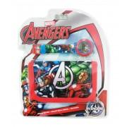 Ψηφιακό ρολόι & Πορτοφόλι Avengers Disney