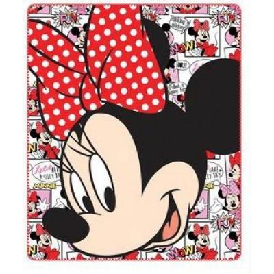 Κουβέρτα παιδική fleece κρεβατιού Minnie Disney 4017a