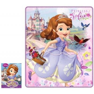 Κουβέρτα παιδική fleece Sofia Disney