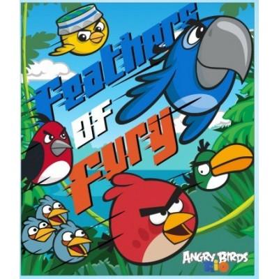 Κουβερτούλα φλις Angry Birds!