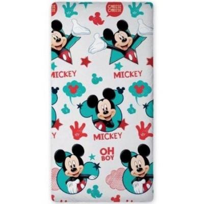 Σεντόνι παιδικό μονό με λάστιχο 0,90x200cm Mickey mouse Disney 540443