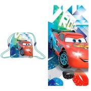 Πετσέτα θαλάσσης με τσάντα Mc Queen Cars Disney