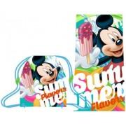 Πετσέτα θαλάσσης με τσάντα Mickey mouse Disney 17002