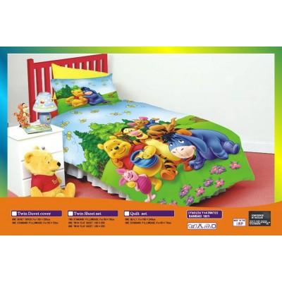 Κουβερλί Μονό & μαξιλαροθήκη Winnie The Pooh