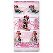 Σεντόνι παιδικό μονό με λάστιχο 0,90x200cm Minnie mouse Disney