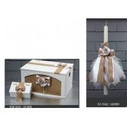 Λαμπάδα και κουτί βάφτισης 042