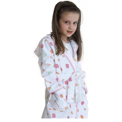 Μπουρνούζι παιδικό βαμβακερό Κλωτσοτήρας