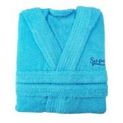 Μπουρνούζι παιδικό βαμβακερό Γαλάζιο
