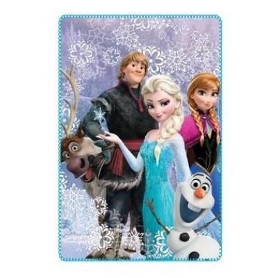 Κουβέρτα φλις παιδική κρεβατιού Frozen 4022