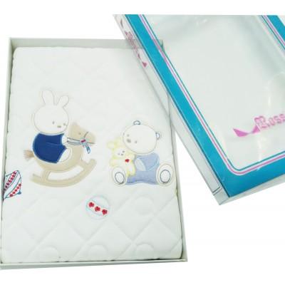 Κουβέρτα βρεφική κούνιας - καροτσιού βαμβακερή καπιτονέ 85016