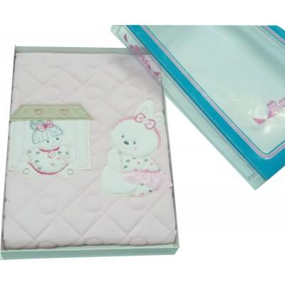Κουβέρτα βρεφική κούνιας - καροτσιού βαμβακερή καπιτονέ 85053