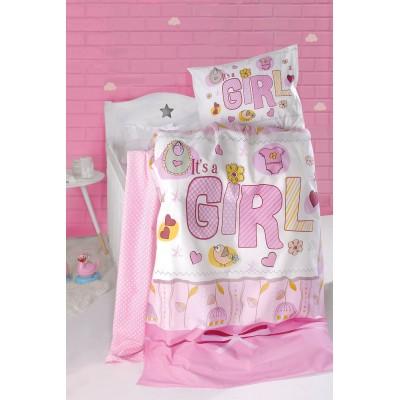 Βρεφική παπλωματοθήκη It's a girl