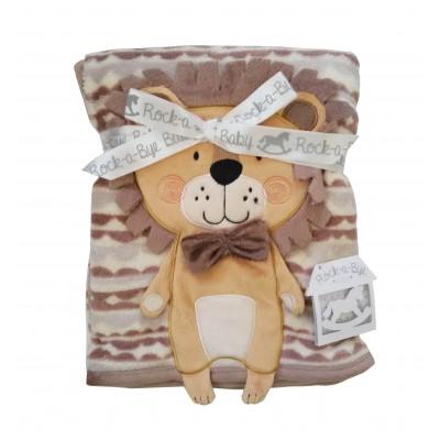 Κουβέρτα βρεφική καροτσιού - αγκαλιάς λιονταράκι 10513