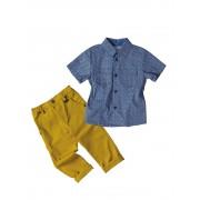 Βρεφικό/παιδικό σετ πουκάμισο και παντελόνι 8880