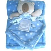 Κουβέρτα βρεφική καροτσιού - αγκαλιάς με αρκουδάκι 8755