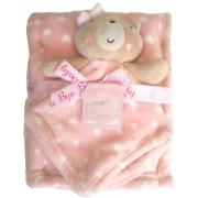 Κουβέρτα βρεφική καροτσιού - αγκαλιάς με αρκουδάκι 8756