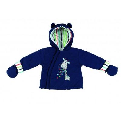 Μπουφαν βρεφικό με κουκούλα και γάντια 6144