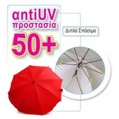 Ομπρέλα καροτσιού Universal Fit κόκκινη B300720 BO Jungle
