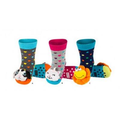 Κάλτσες κροταλίες με ζωάκια που κουδουνίζουν Soxo 33344_1