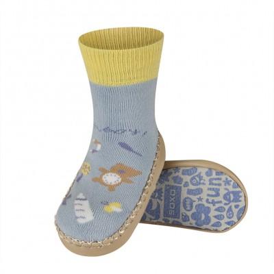 Κάλτσες με δερμάτινη αντιολισθητική σόλα Soxo 46696a