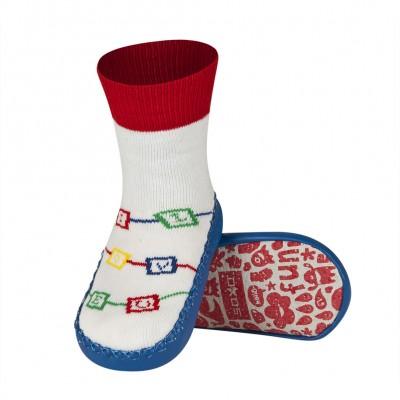 Κάλτσες με δερμάτινη αντιολισθητική σόλα Soxo 46696b