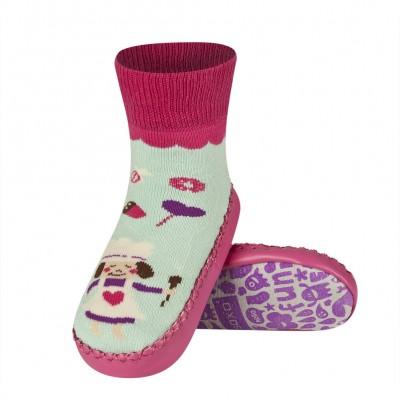 Κάλτσες με δερμάτινη αντιολισθητική σόλα Soxo 47105a