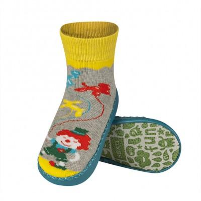 Κάλτσες με δερμάτινη αντιολισθητική σόλα Soxo 47105c