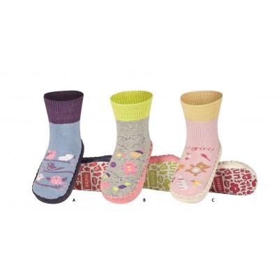 Κάλτσες με δερμάτινη αντιολισθητική σόλα Soxo 47204a