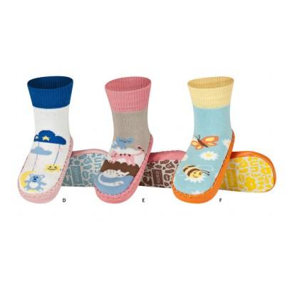 Κάλτσες με δερμάτινη αντιολισθητική σόλα Soxo 47204b