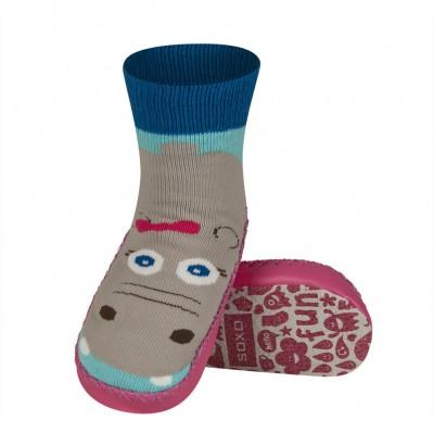 Κάλτσες με δερμάτινη αντιολισθητική σόλα Soxo 53335.1