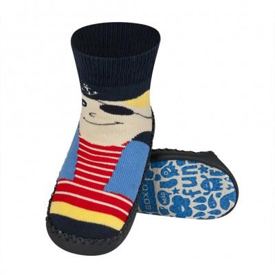 Κάλτσες με δερμάτινη αντιολισθητική σόλα Soxo 53335.3