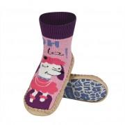Κάλτσες με δερμάτινη αντιολισθητική σόλα Soxo 57876.2